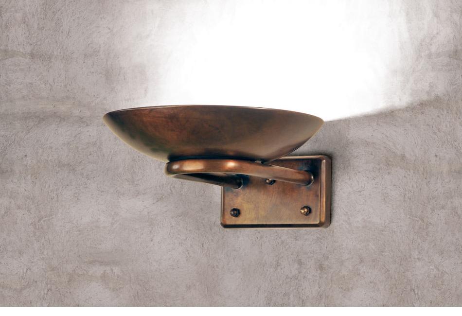Applique lampade in ottone e vetro allegro aldo bernardi