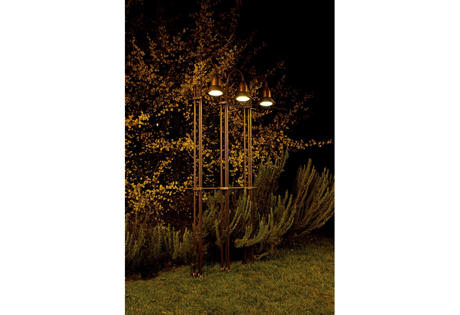 Struttura per illuminazione giardino ed esterni: glicine aldo bernardi