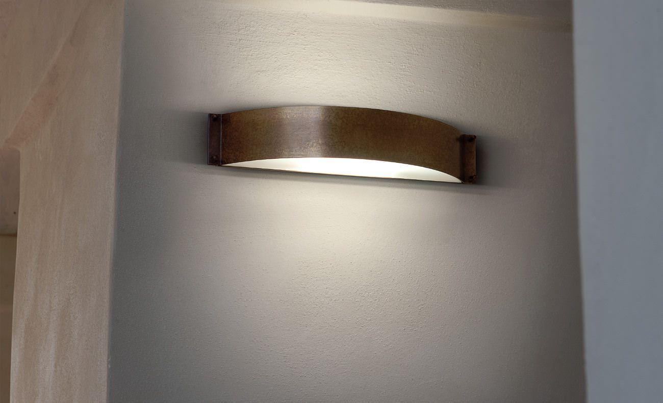 Lampade a parete applique in rame e ottone aldo bernardi
