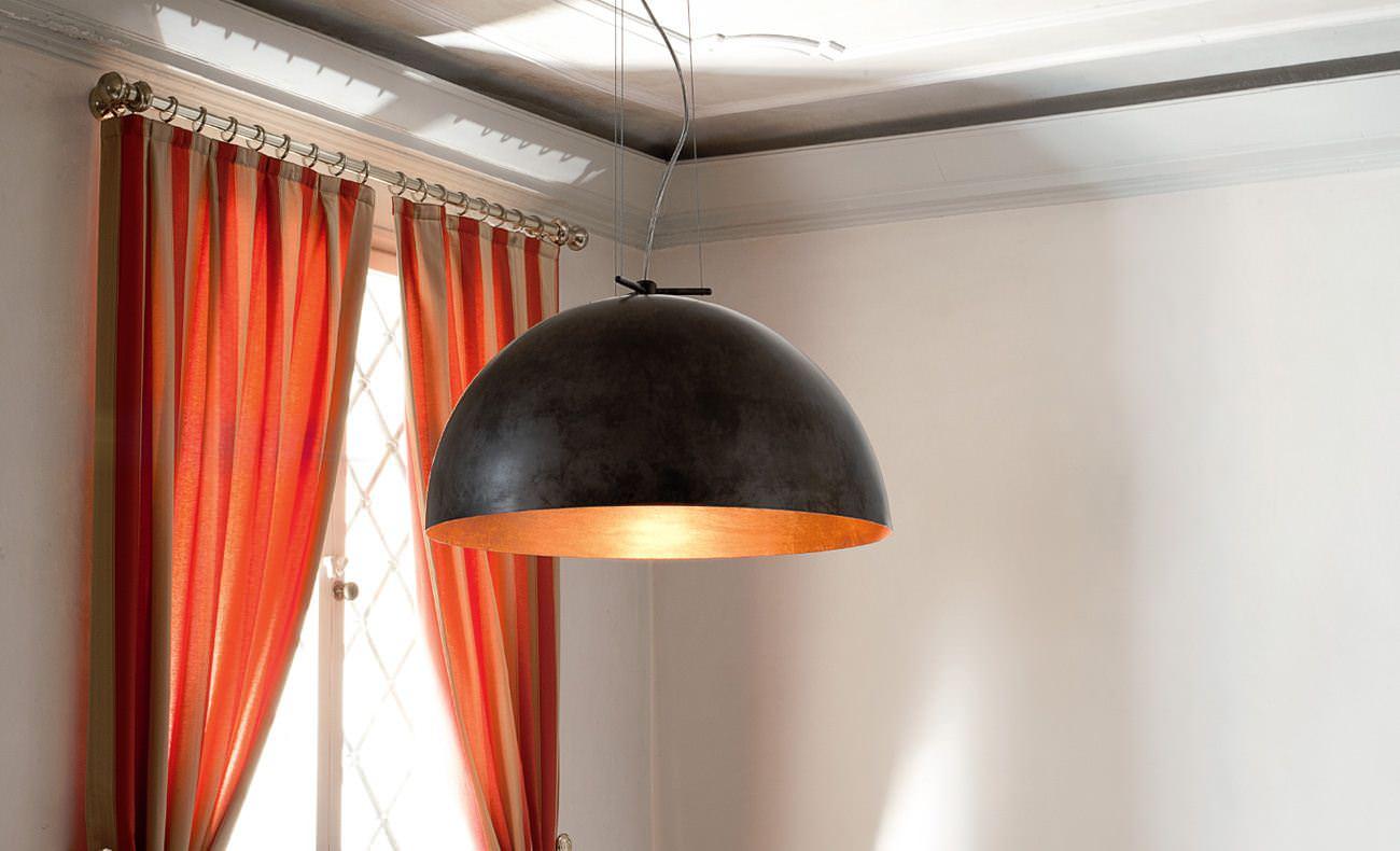 Lampade in ottone e in rame per interni e sospensioni for Lampade per interni
