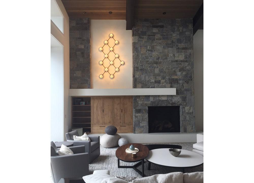 Illuminazione abitazione interna sarah jones interior for Abitazione design