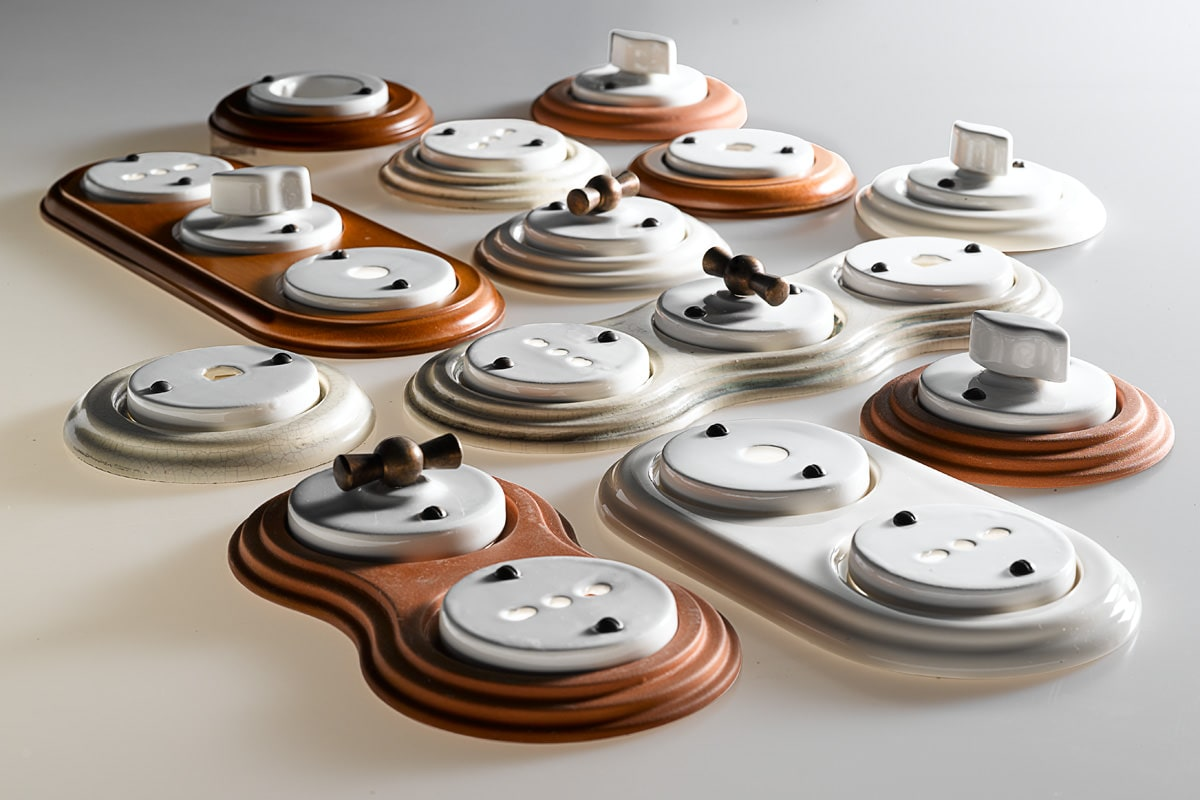 Interruttori in ceramica impianto a treccia serie for Acquario prezzi