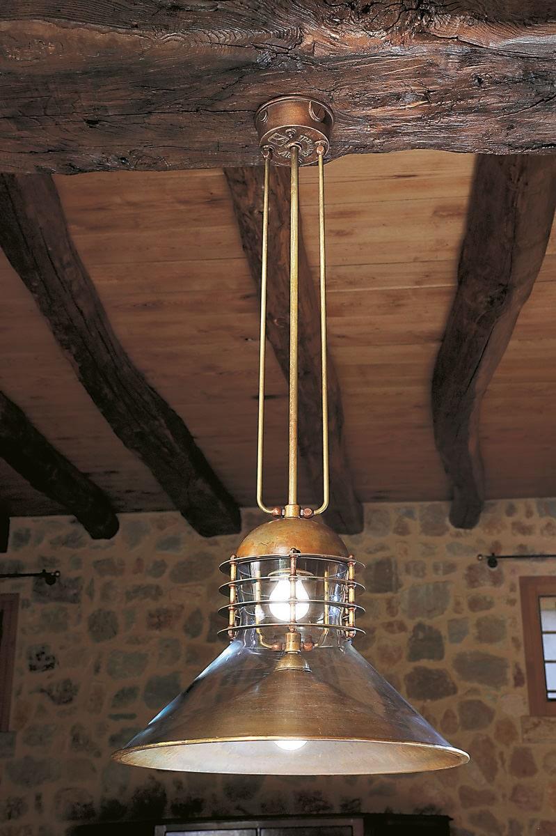Tamer: Lampada in ottone per interni a sospensione  Aldo Bernardi